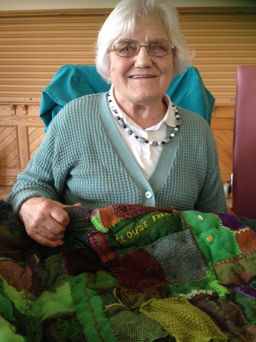 Dorothy with quilt