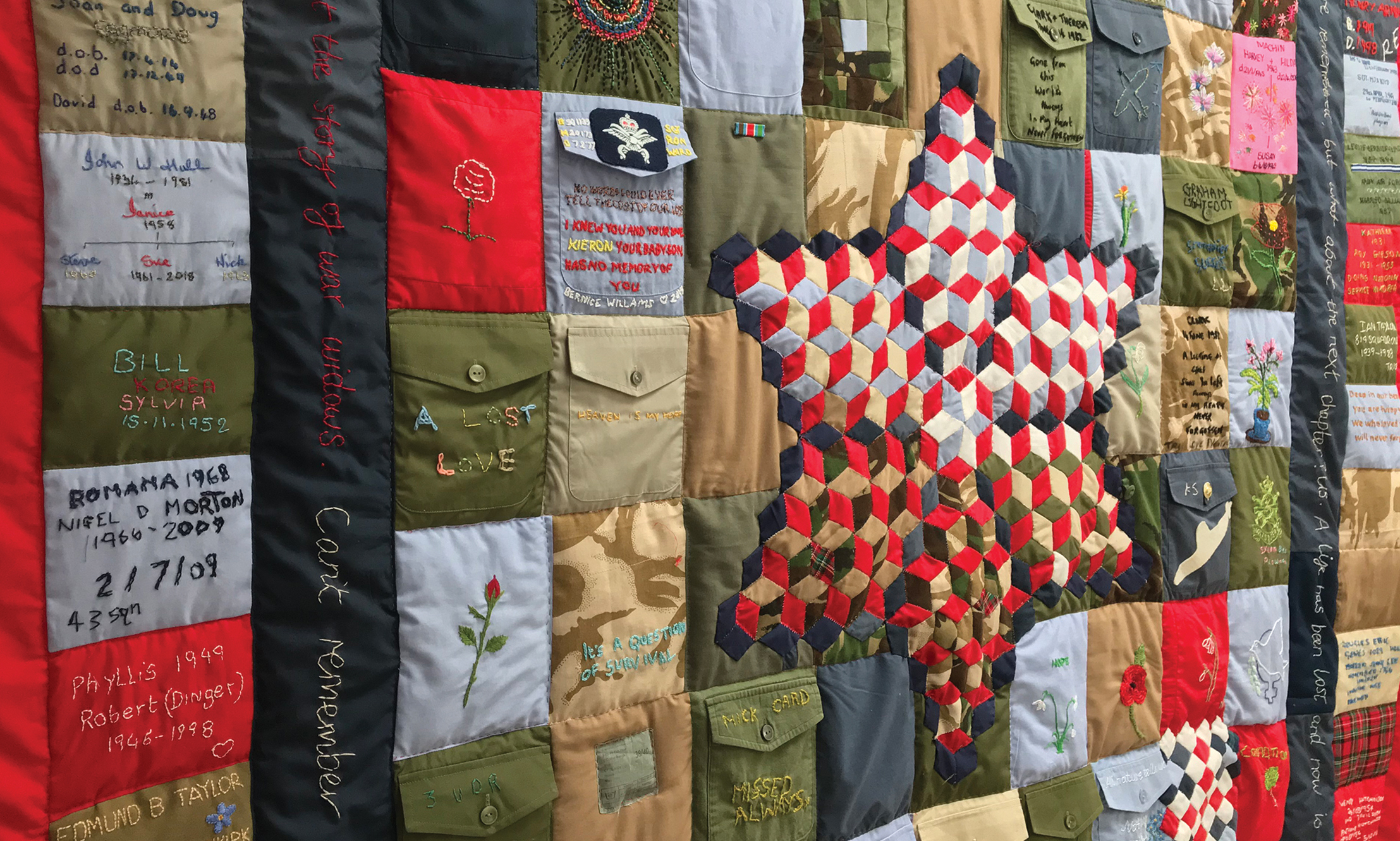 War Widows' Quilt test
