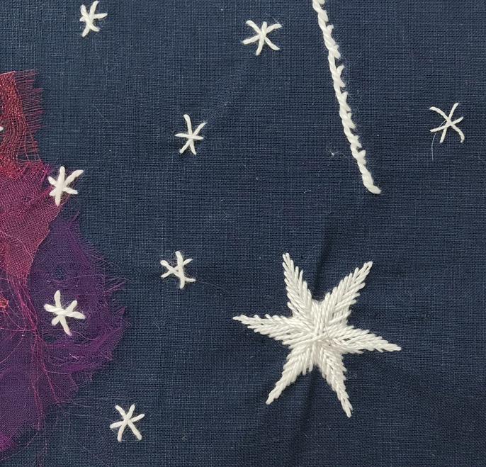 fine stitching, star, Joan